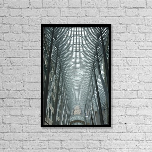 "Printscapes Wall Art: 12"" x 18"" Canvas Print With Black Frame - Architectural Interiors by Michael Interisano"