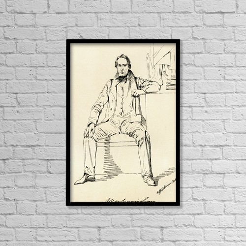 "Printscapes Wall Art: 12"" x 18"" Canvas Print With Black Frame - Allan Cunningham, 1784 by Ken Welsh"