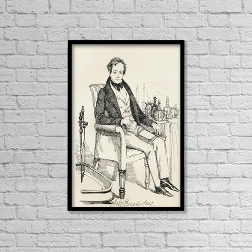 "Printscapes Wall Art: 12"" x 18"" Canvas Print With Black Frame - John Baldwin Buckstone, 1802 by Ken Welsh"
