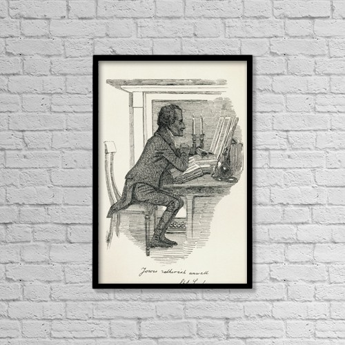 "Printscapes Wall Art: 12"" x 18"" Canvas Print With Black Frame - Charles Lamb, 1775 by Ken Welsh"
