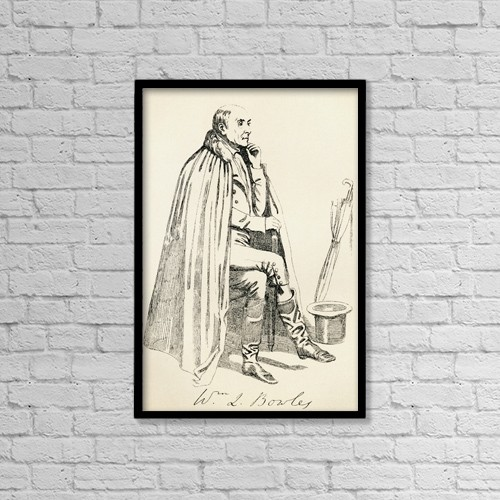 "Printscapes Wall Art: 12"" x 18"" Canvas Print With Black Frame - William Lisle Bowles, 1762 by Ken Welsh"