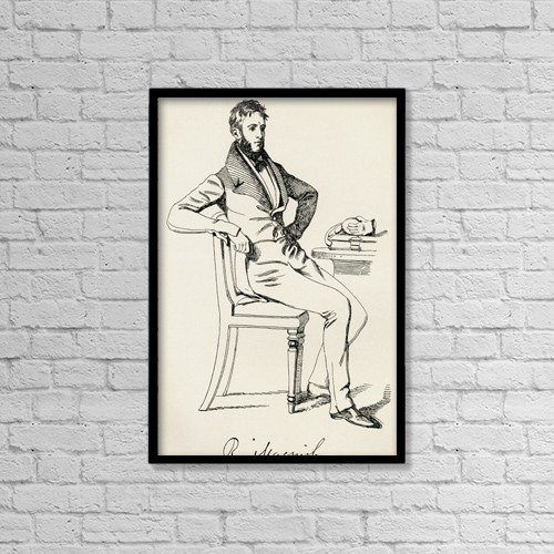 "Printscapes Wall Art: 12"" x 18"" Canvas Print With Black Frame - Robert Macnish, 1802 by Ken Welsh"