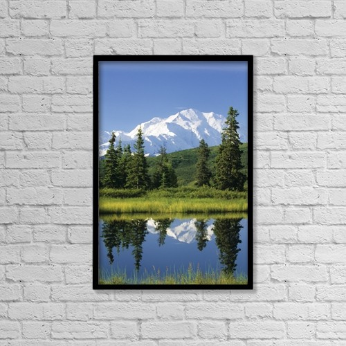 "Printscapes Wall Art: 12"" x 18"" Canvas Print With Black Frame - Scenic by Mark Kelley"