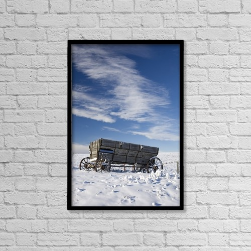"Printscapes Wall Art: 12"" x 18"" Canvas Print With Black Frame - Historic & Vintage by Michael Interisano"