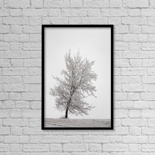 "Printscapes Wall Art: 12"" x 18"" Canvas Print With Black Frame - Weather by Michael Interisano"