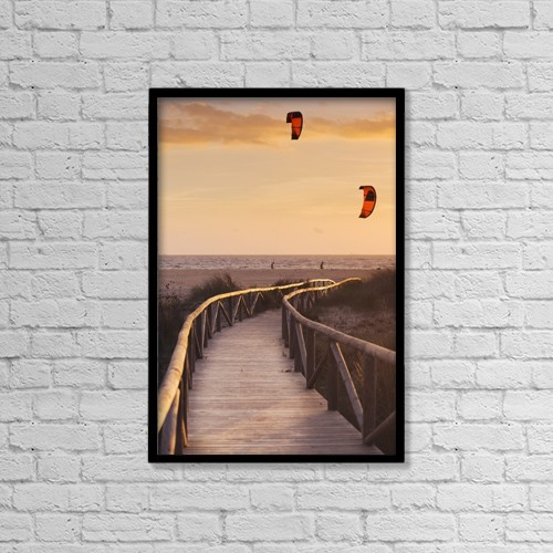 "Printscapes Wall Art: 12"" x 18"" Canvas Print With Black Frame - People by Ben Welsh"