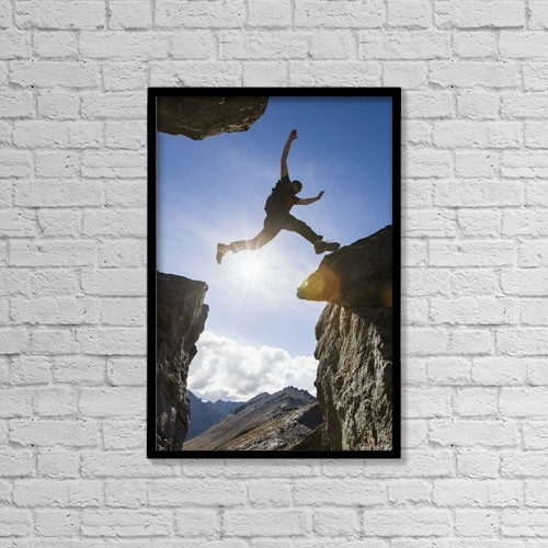 "Printscapes Wall Art: 12"" x 18"" Canvas Print With Black Frame - Sports and Recreation by Scott Dickerson"