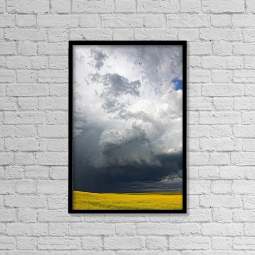 "Printscapes Wall Art: 12"" x 18"" Canvas Print With Black Frame - Agriculture by Robert Postma"