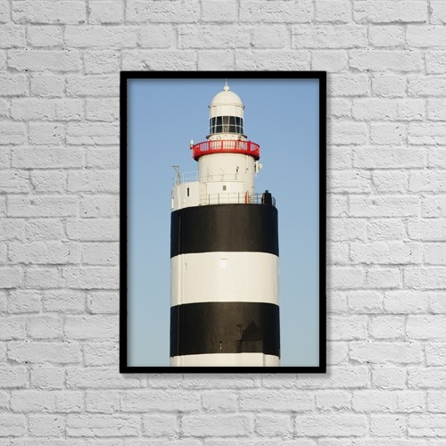 "Printscapes Wall Art: 12"" x 18"" Canvas Print With Black Frame - Hook head lighthouse by Peter Zoeller"