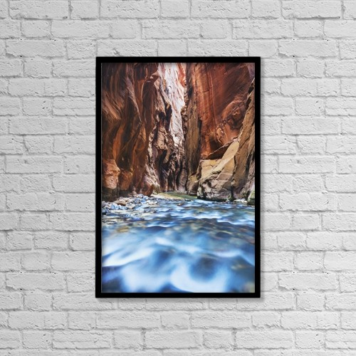 "Printscapes Wall Art: 12"" x 18"" Canvas Print With Black Frame - Nature by MakenaStockMedia"
