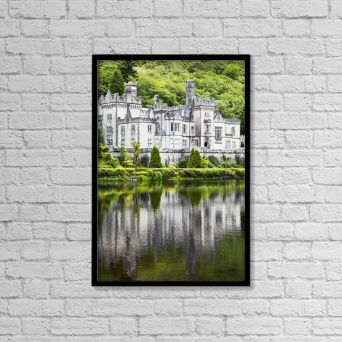 "Printscapes Wall Art: 12"" x 18"" Canvas Print With Black Frame - Kylemore abbey;County galway ireland by Peter Zoeller"