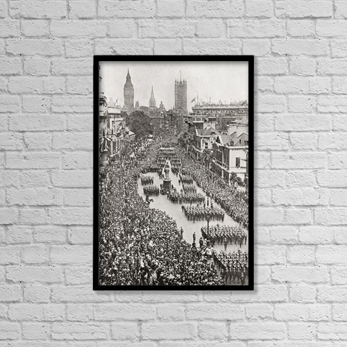 """Printscapes Wall Art: 12"""" x 18"""" Canvas Print With Black Frame - Lifestyle by Ken Welsh"""