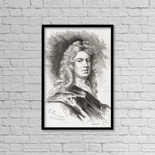 "Printscapes Wall Art: 12"" x 18"" Canvas Print With Black Frame - Sir Godfrey Kneller, 1St Baronet, 1646 by Ken Welsh"