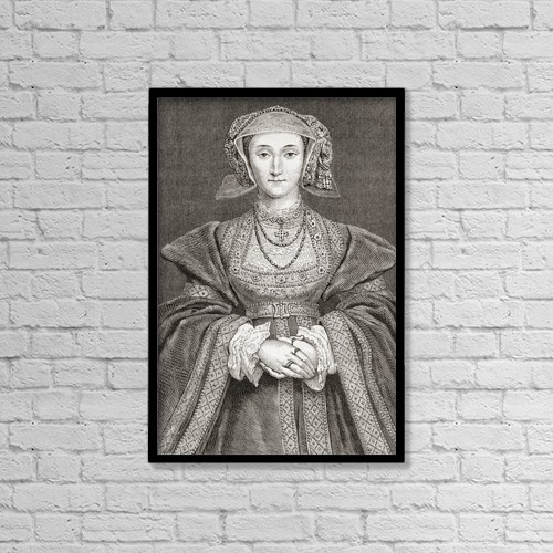 "Printscapes Wall Art: 12"" x 18"" Canvas Print With Black Frame - Anne Of Cleves, 1515 by Ken Welsh"