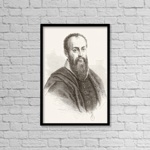 "Printscapes Wall Art: 12"" x 18"" Canvas Print With Black Frame - Giorgio Vasari, 1511 by Ken Welsh"