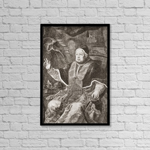 "Printscapes Wall Art: 12"" x 18"" Canvas Print With Black Frame - Pope Clement Xiii, 1693 by Ken Welsh"