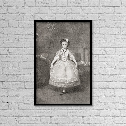 "Printscapes Wall Art: 12"" x 18"" Canvas Print With Black Frame - ""The Minuet by Ken Welsh"