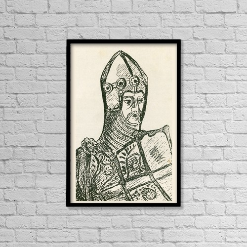 "Printscapes Wall Art: 12"" x 18"" Canvas Print With Black Frame - Sir Thomas (De) Hungerford Died 1397 by Ken Welsh"