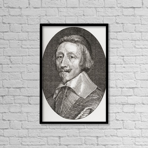 "Printscapes Wall Art: 12"" x 18"" Canvas Print With Black Frame - Armand Jean Du Plessis, 1585 by Ken Welsh"