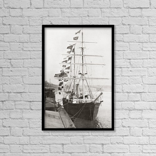 "Printscapes Wall Art: 12"" x 18"" Canvas Print With Black Frame - Sir Ernest Henry Shackleton by Ken Welsh"