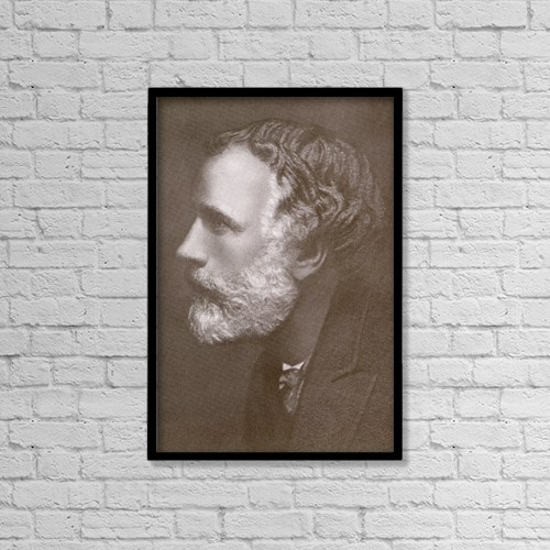 "Printscapes Wall Art: 12"" x 18"" Canvas Print With Black Frame - George Meredith, 1828 by Ken Welsh"
