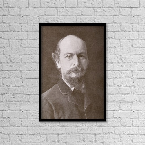 "Printscapes Wall Art: 12"" x 18"" Canvas Print With Black Frame - Algernon Charles Swinburne, 1837 by Ken Welsh"