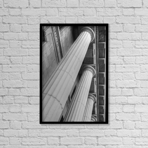 "Printscapes Wall Art: 12"" x 18"" Canvas Print With Black Frame - Columns On Quebec Court Of Appeals Building by David Chapman"