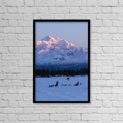 "Printscapes Wall Art: 12"" x 18"" Canvas Print With Black Frame - Scenic by Jeff Schultz"