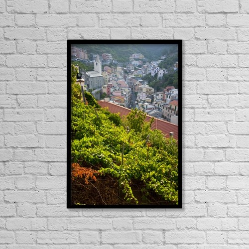 "Printscapes Wall Art: 12"" x 18"" Canvas Print With Black Frame - Travel by Carlos Sanchez Pereyra"