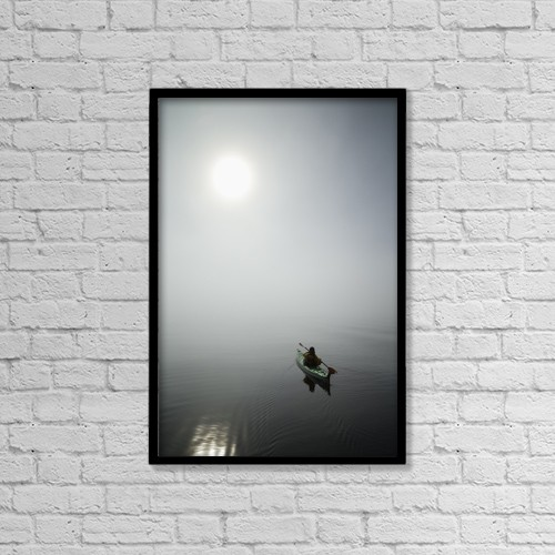 "Printscapes Wall Art: 12"" x 18"" Canvas Print With Black Frame - Sports and Recreation by John Hyde"