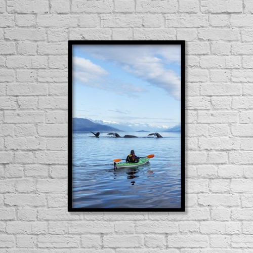 """Printscapes Wall Art: 12"""" x 18"""" Canvas Print With Black Frame - Animals by John Hyde"""