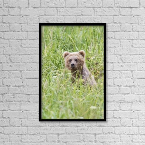 "Printscapes Wall Art: 12"" x 18"" Canvas Print With Black Frame - Animals by Lynn Wegener"