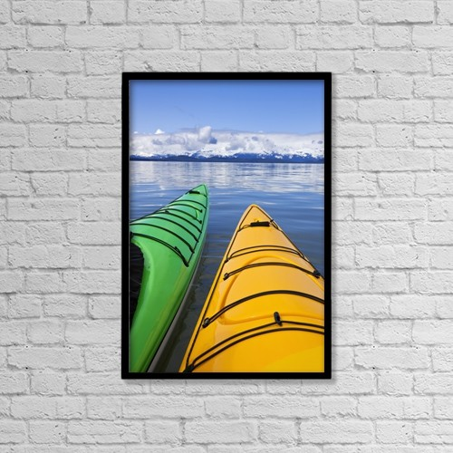 """Printscapes Wall Art: 12"""" x 18"""" Canvas Print With Black Frame - Nautical by John Hyde"""