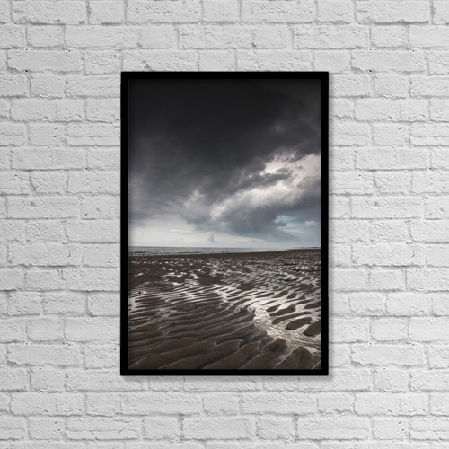 "Printscapes Wall Art: 12"" x 18"" Canvas Print With Black Frame - Weather by John Short"