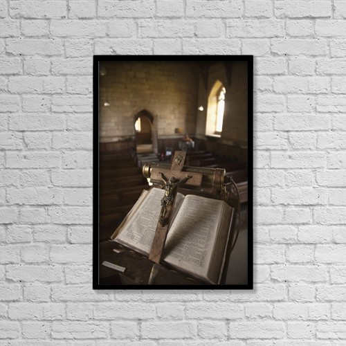 "Printscapes Wall Art: 12"" x 18"" Canvas Print With Black Frame - Christian Faith by John Short"