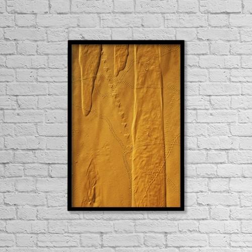 "Printscapes Wall Art: 12"" x 18"" Canvas Print With Black Frame - Niger, Sahara Desert by Alberto Arzoz"