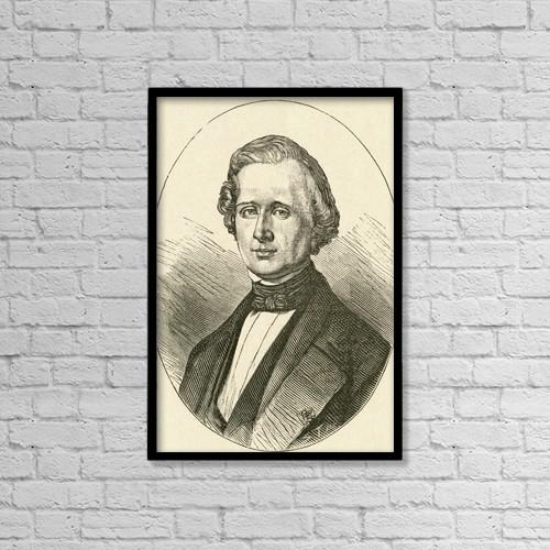 "Printscapes Wall Art: 12"" x 18"" Canvas Print With Black Frame - Urbain Jean Joseph Le Verrier, 1811 by Ken Welsh"