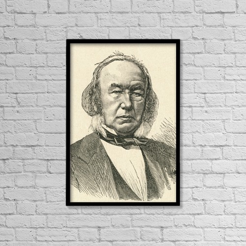 "Printscapes Wall Art: 12"" x 18"" Canvas Print With Black Frame - Claude Bernard, 1813 by Ken Welsh"