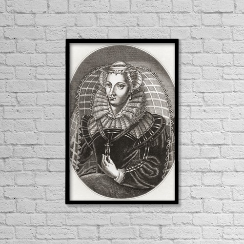 "Printscapes Wall Art: 12"" x 18"" Canvas Print With Black Frame - Mary, Queen Of Scots, 1542 by Ken Welsh"