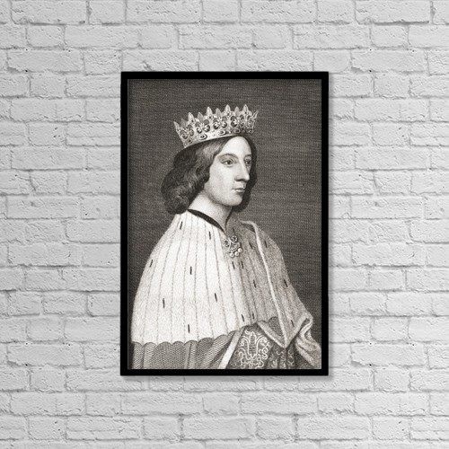 "Printscapes Wall Art: 12"" x 18"" Canvas Print With Black Frame - James Iii, King Of Scots, 1451 by Ken Welsh"