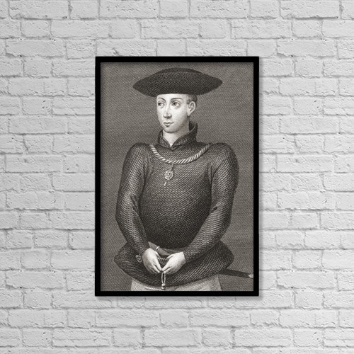 "Printscapes Wall Art: 12"" x 18"" Canvas Print With Black Frame - King James Ii Of Scotland, 1430-1460 by Ken Welsh"