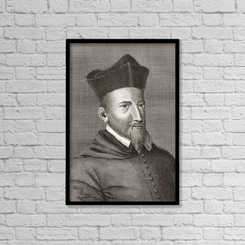 "Printscapes Wall Art: 12"" x 18"" Canvas Print With Black Frame - John Lesley, Or Leslie, 1527 by Ken Welsh"