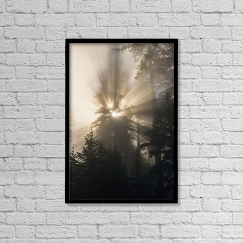 "Printscapes Wall Art: 12"" x 18"" Canvas Print With Black Frame - Christian Faith by Robert L. Potts"
