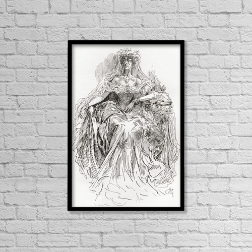 "Printscapes Wall Art: 12"" x 18"" Canvas Print With Black Frame - Miss Havisham by Ken Welsh"
