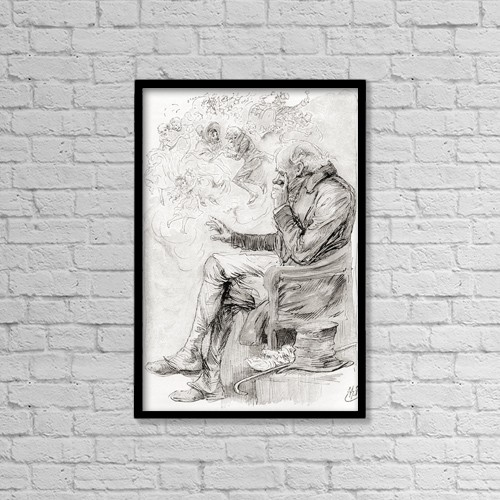 """Printscapes Wall Art: 12"""" x 18"""" Canvas Print With Black Frame - Trotty's Dream by Ken Welsh"""