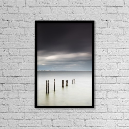 """Printscapes Wall Art: 12"""" x 18"""" Canvas Print With Black Frame - Weather by John Short"""