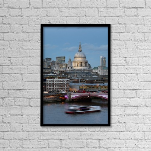 "Printscapes Wall Art: 12"" x 18"" Canvas Print With Black Frame - St by Charles Bowman"