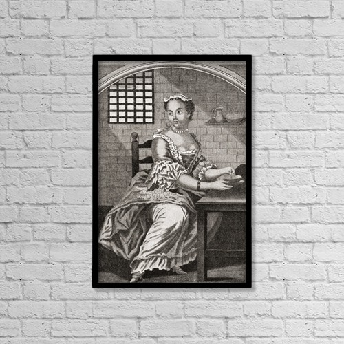 """Printscapes Wall Art: 12"""" x 18"""" Canvas Print With Black Frame - Marie Catherine Taperet 1728 - 1755 by Ken Welsh"""