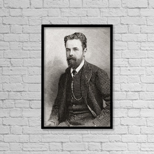 """Printscapes Wall Art: 12"""" x 18"""" Canvas Print With Black Frame - Robert Collier, 2nd Baron Monkswell, 1845 -1909 by Ken Welsh"""