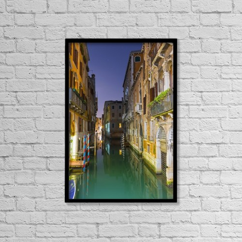 "Printscapes Wall Art: 12"" x 18"" Canvas Print With Black Frame - Travel by Mats Silvan"